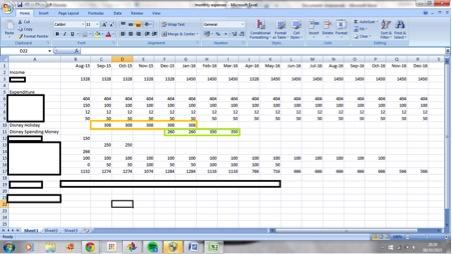 Caroline's Spreadsheet